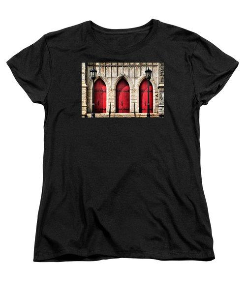 Trinity Lutheran Entrance Women's T-Shirt (Standard Cut) by Lynne Jenkins