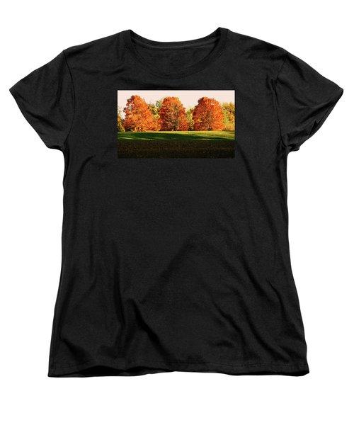 Trinity Trees Women's T-Shirt (Standard Cut) by Hye Ja Billie
