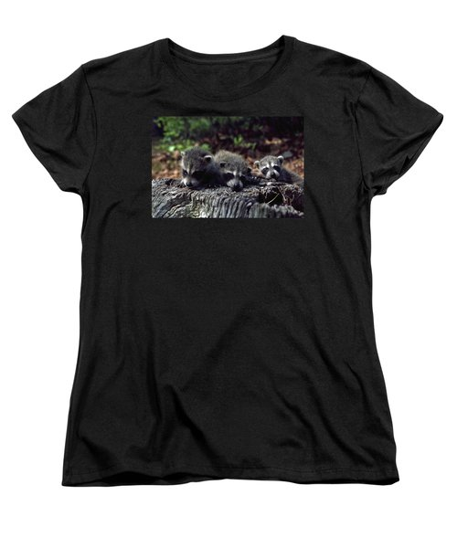 Women's T-Shirt (Standard Cut) featuring the photograph Triplets by Sally Weigand