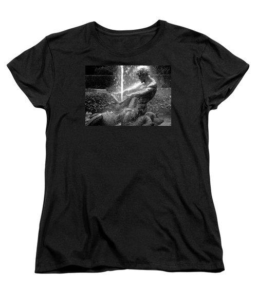 Triton Fountain Women's T-Shirt (Standard Cut) by Alex Galkin