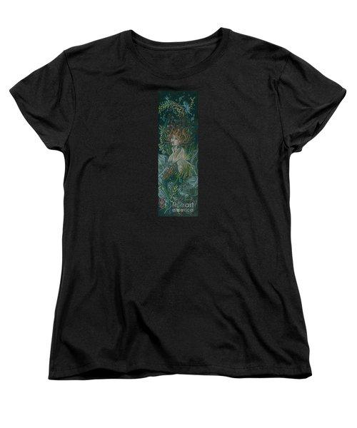 Women's T-Shirt (Standard Cut) featuring the drawing Triumph Escapes Maximilian's Arch by Dawn Fairies