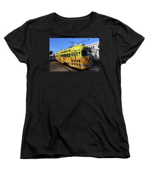 Women's T-Shirt (Standard Cut) featuring the photograph Trolley Number 1052 by Steven Spak