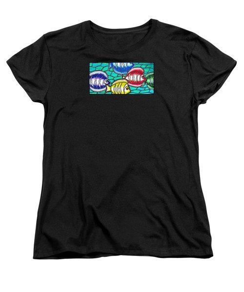 Tropical Fish Swim Women's T-Shirt (Standard Cut) by Jim Harris