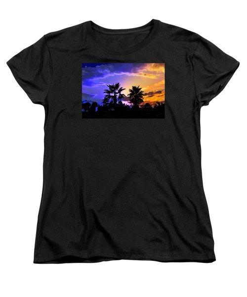 Tropical Nightfall Women's T-Shirt (Standard Cut) by Francesa Miller