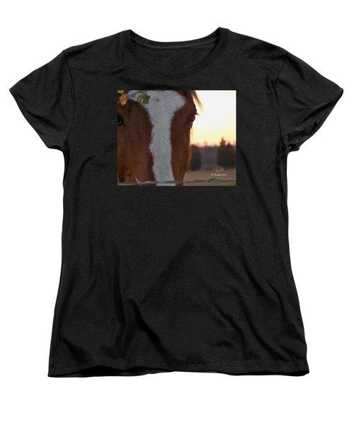 Women's T-Shirt (Standard Cut) featuring the photograph Trusting by Betty Northcutt