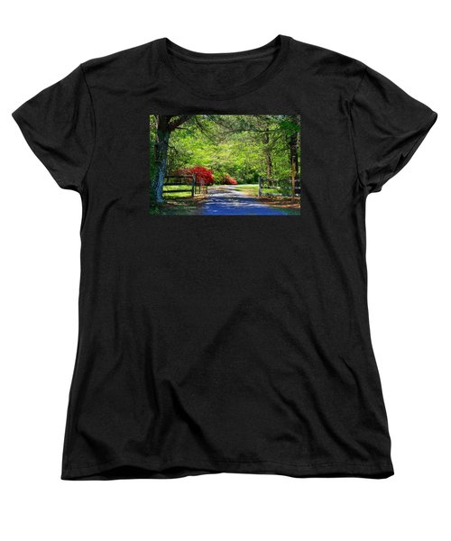 Women's T-Shirt (Standard Cut) featuring the photograph Tucked Away by Kathryn Meyer
