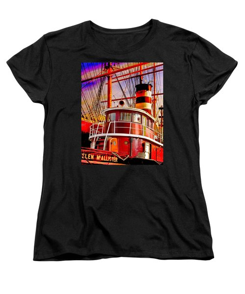 Women's T-Shirt (Standard Cut) featuring the photograph Tugboat Helen Mcallister by Chris Lord