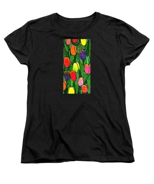 Tulip Glory Women's T-Shirt (Standard Cut) by Jim Harris