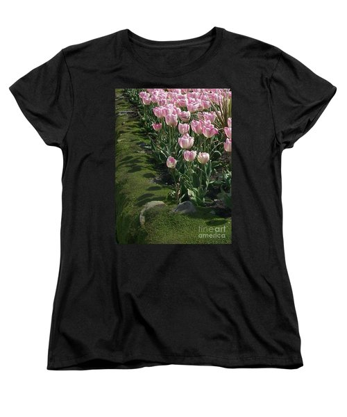 Women's T-Shirt (Standard Cut) featuring the photograph Tulip Parade by Jolanta Anna Karolska