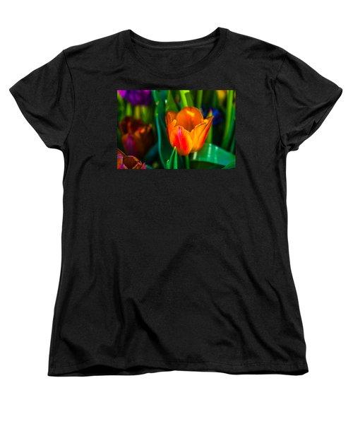 Women's T-Shirt (Standard Cut) featuring the photograph Tulips Enchanting 44 by Alexander Senin