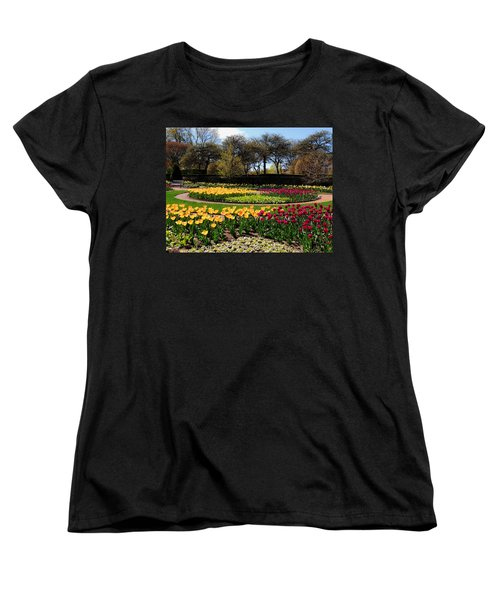 Women's T-Shirt (Standard Cut) featuring the photograph Tulips In The Spring by Teresa Schomig
