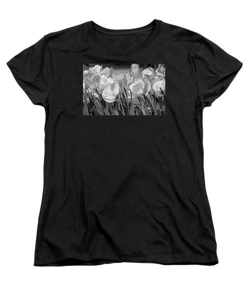Tulips Women's T-Shirt (Standard Cut) by JoAnn Lense
