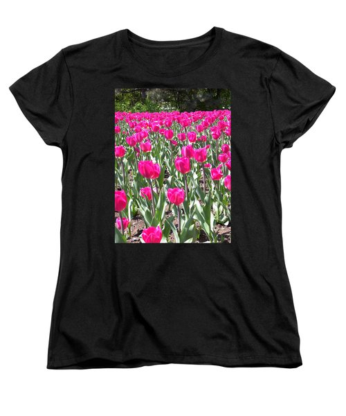 Women's T-Shirt (Standard Cut) featuring the photograph Tulips by Mary-Lee Sanders