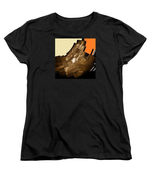 Women's T-Shirt (Standard Cut) featuring the mixed media Tumble 1 by Andrew Drozdowicz