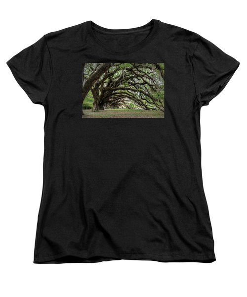 Women's T-Shirt (Standard Cut) featuring the photograph Tunnel In Charleston by Jon Glaser