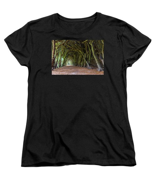 Women's T-Shirt (Standard Cut) featuring the photograph Tunnel Of Intertwined Yew Trees by Semmick Photo
