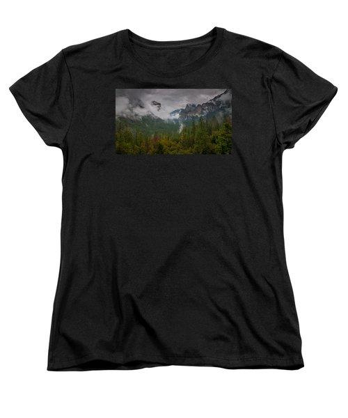 Tunnel View Women's T-Shirt (Standard Cut) by Ralph Vazquez