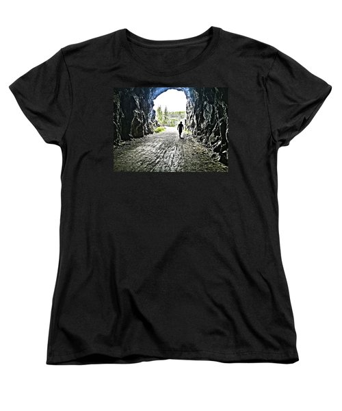 Women's T-Shirt (Standard Cut) featuring the photograph Tunnel Vision by Nadine Dennis