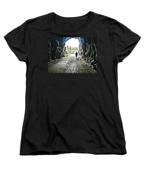 Tunnel Vision Women's T-Shirt (Standard Cut) by Nadine Dennis