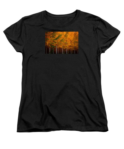 Women's T-Shirt (Standard Cut) featuring the photograph Turning Into Gold by Dan Mihai