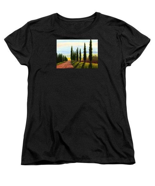 Tuscany Cypress Trees Women's T-Shirt (Standard Cut)