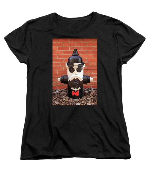 Women's T-Shirt (Standard Cut) featuring the photograph Tuxedo Hydrant by James Eddy