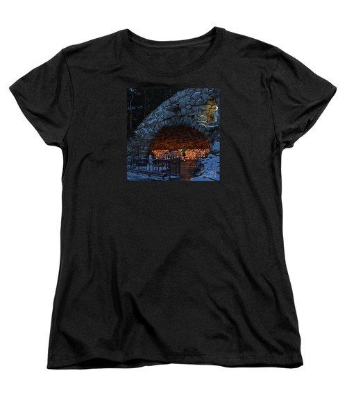 Twilight Grotto Prayer Women's T-Shirt (Standard Cut)