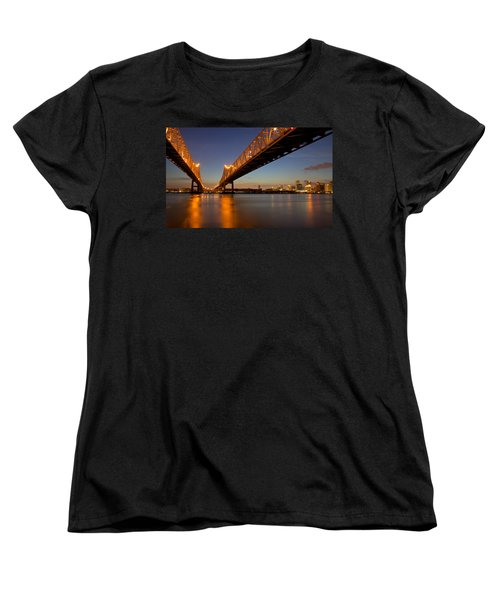 Women's T-Shirt (Standard Cut) featuring the photograph Twin Bridges by Evgeny Vasenev