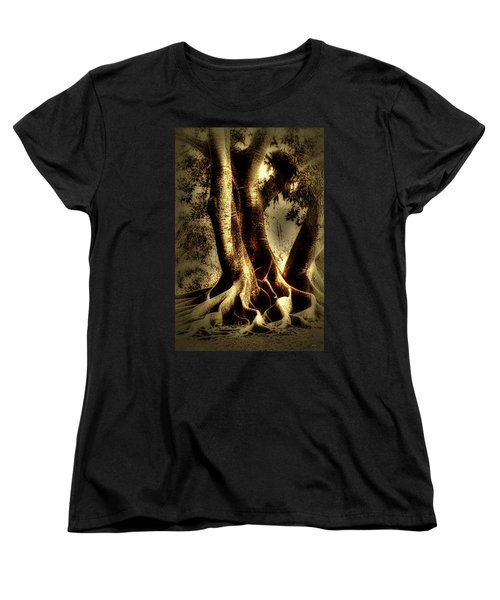Women's T-Shirt (Standard Cut) featuring the photograph Twisted Trees by Tom Prendergast