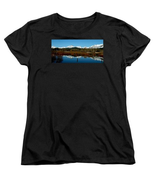 Two Med River Reflection Women's T-Shirt (Standard Cut)