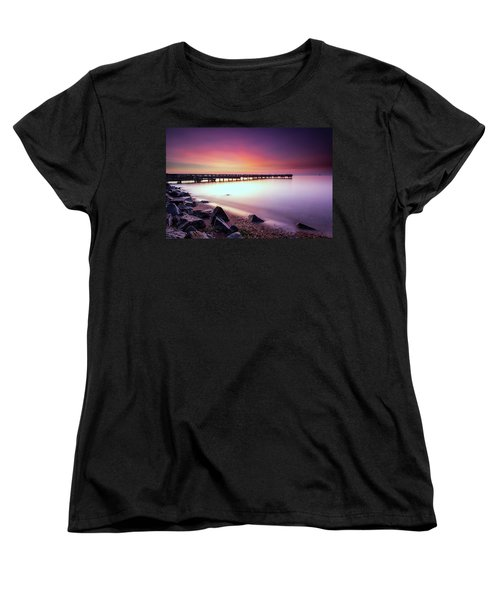 Women's T-Shirt (Standard Cut) featuring the photograph Two Minutes Of Blue Hour   by Edward Kreis