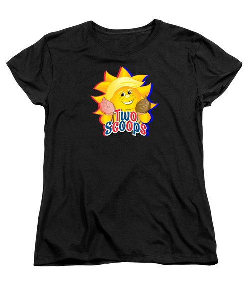 Two Scoops  Women's T-Shirt (Standard Cut) by Eye Candy Creations
