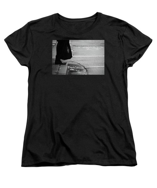Women's T-Shirt (Standard Cut) featuring the photograph U Stopped Me On My Tracks  by Empty Wall