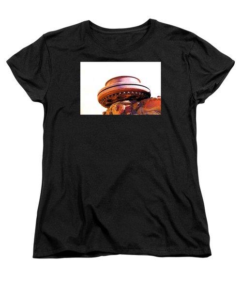 Ufo Landing At Joshua Trees Women's T-Shirt (Standard Cut) by Viktor Savchenko