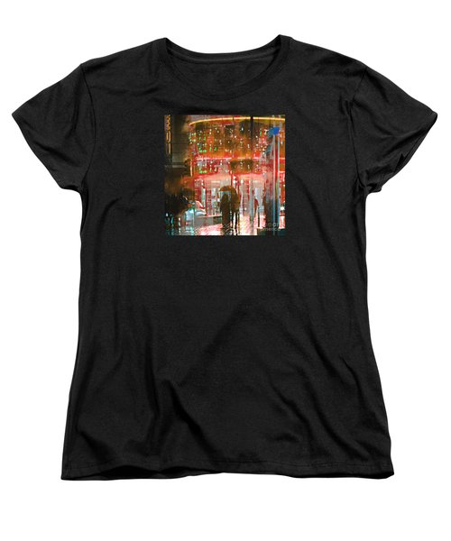 Women's T-Shirt (Standard Cut) featuring the photograph Umbrellas Are For Sharing by LemonArt Photography