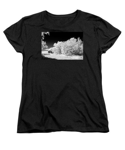 Women's T-Shirt (Standard Cut) featuring the photograph Under A Dark Sky by Dan Jurak
