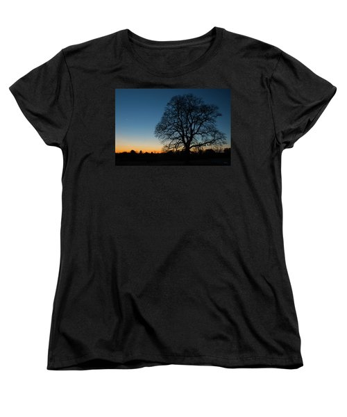 Women's T-Shirt (Standard Cut) featuring the photograph Under The New Moon by Dana Sohr