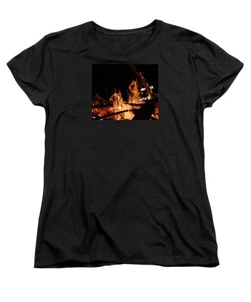 Under The Sparks Women's T-Shirt (Standard Cut) by Janet Rockburn