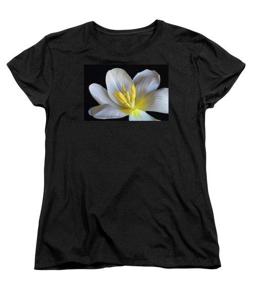 Unfolding Tulip. Women's T-Shirt (Standard Cut) by Terence Davis