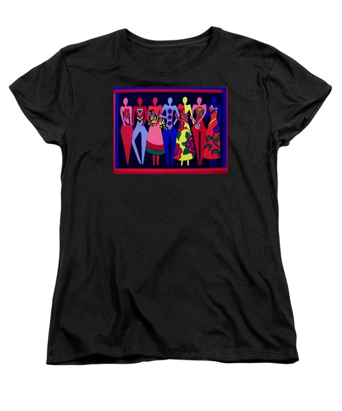 Women's T-Shirt (Standard Cut) featuring the painting Unity 1 by Stephanie Moore