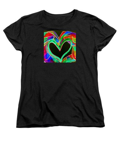 Universal Sign For Love Women's T-Shirt (Standard Cut) by Eloise Schneider