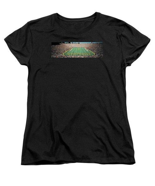 University Of Michigan Stadium, Ann Women's T-Shirt (Standard Cut) by Panoramic Images