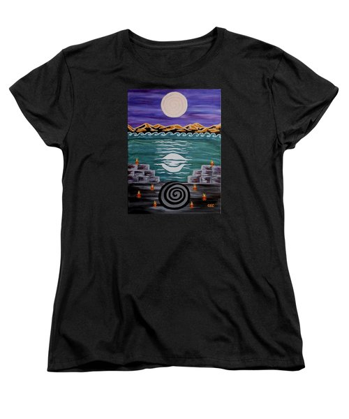 Women's T-Shirt (Standard Cut) featuring the painting Unthought Known by Carolyn Cable