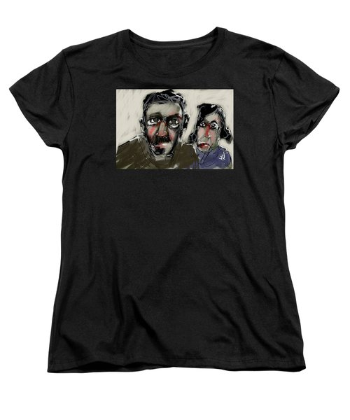 Women's T-Shirt (Standard Cut) featuring the painting Untitled 21nov2016 by Jim Vance