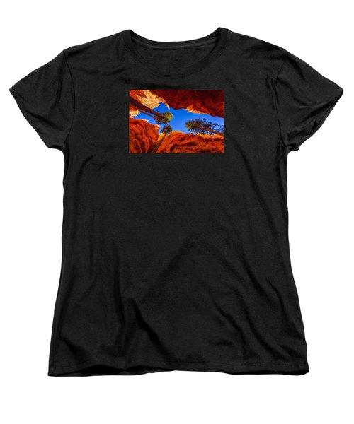 Up From Wall Street Women's T-Shirt (Standard Cut) by Chad Dutson