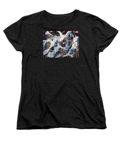 Women's T-Shirt (Standard Cut) featuring the painting Up In The Air by Sheila Mcdonald