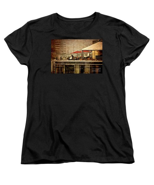 Women's T-Shirt (Standard Cut) featuring the photograph Up On The Roof - Miraflores Peru by Mary Machare