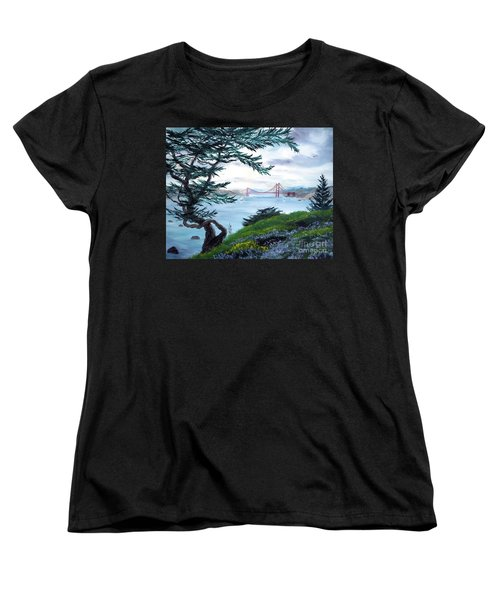 Upon Seeing The Golden Gate Women's T-Shirt (Standard Cut) by Laura Iverson