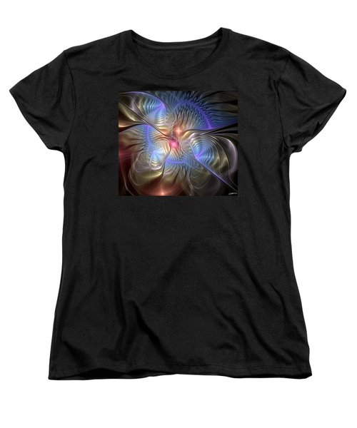 Upon The Wings Of Music Women's T-Shirt (Standard Cut) by Casey Kotas