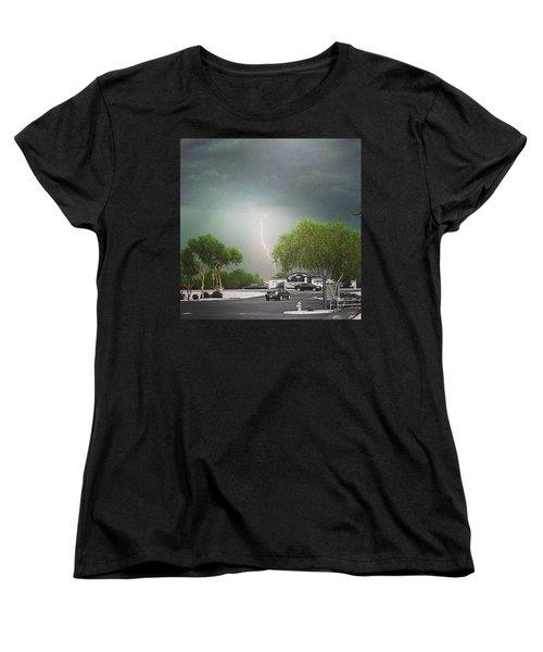 Lightning  Women's T-Shirt (Standard Cut) by Speedy Birdman